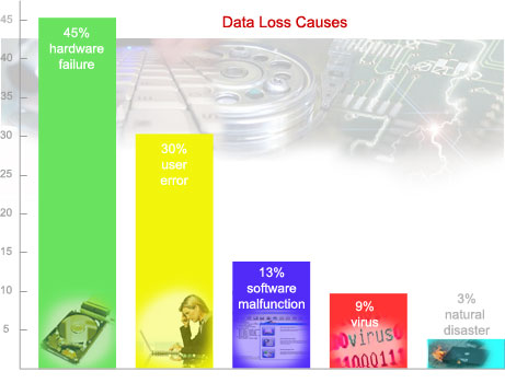 chart of data loss causes