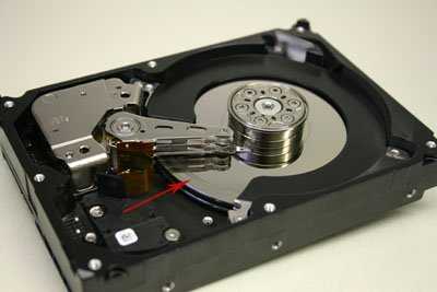 hard drive platter with rings